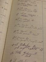 Vintage Ledger Paper New England 1892-'93 Rustic Beautiful Calligraphy, Ephemera