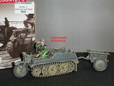 King and Country wh23 tedesche sd.kfz.2 KETTENKRAD + rimorchio veicolo militare