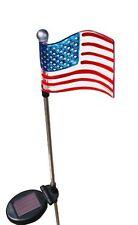 Solar Patriotic U.S. Flag,Outdoor Garden  Stake Landscape LED Pathway Light Lamp