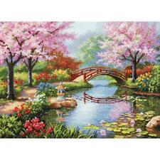 Dimensions Gold Collection Counted Cross Stitch Kit Japanese Garden NEW 16 Count