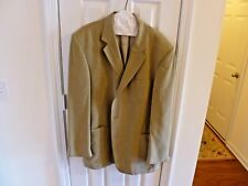 Men's Beige Sports Coat by Geoffrey Beene 46L - See Description & Images