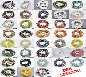 "4-10mm GEMSTONE Chip Beads Loose 34"" Strand BirthStone -Necklace Bracelet Making"