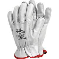 Montagehandschuhe Arbeitshandschuhe Ziegenleder Weiß Top Qualität Gr. 10 NEU