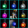 Pet Dog Puppy Cat LED Flashing Collar Tag Clip Buckle Safety Night Light Pendant
