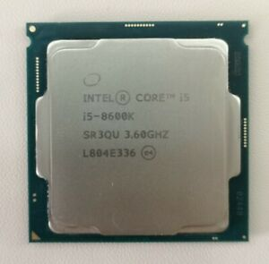 Intel Core i5-8600k CPU Processor Hexa Core_Ref 0262