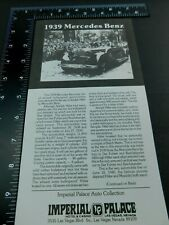 "Imperial Palace Hotel Las Vegas Auto Collection ""1939 Mercedes Benz"" Flyer"