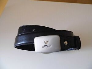 """ARMANI LEATHER BELT - Black. Size: 36"""" - 42"""" inches. Pre owned"""