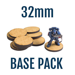 100X  32mm Bases for WH40K Space Marine Miniatures