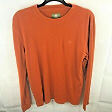 Timberland Mens Orange Thermal Long Sleeve Shirt Sz Small S A59