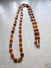Antico Vittoriano Baltic Amber Perline Collana