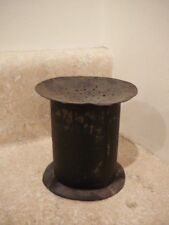 ANTIQUE PRIMITIVE RUSTIC SAND POT INK BLOTTER INKWELL TIN TOLEWARE AAFA
