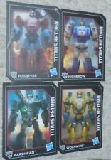 Transformers Titans Return 4 Card Lot Generations PERCEPTOR HIGHBROW HARDHEAD