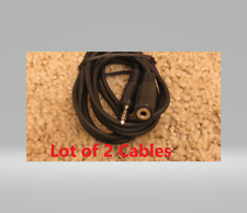 """(2) 6FT 3.5mm Audio Stereo Cable M/F Extension 1/8"""" Cord Mini Jack Headphone 6FT"""