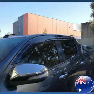 Premium Weathershields weather shield window visor fits Toyota Hilux 2015-2020