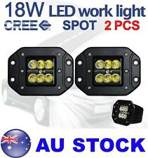 "2pcs 5"" inch Cree 18W Spot LED Work Light offroad Boat Truck Flush Mount AU SHIP"