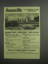 1953 Deauville La Grande Plage Francaise Ad
