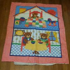 "You Finish! Baby Crib Quilt - Three Little Bears - 33"" x 42"" Panel"