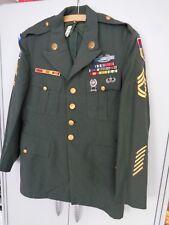 Jacke Airborne Green Dress original Vietnam Sergeant First Class von 1955