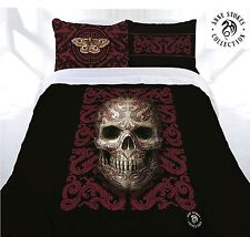 Anne Stokes Oriental Skull Double Bed Quilt Doona Cover Set Bedroom Home Decor