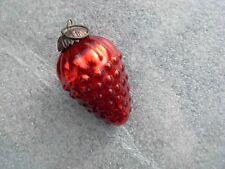 1 boule de noël raisin rouge ancien verre églomisé mercurisé 19 ème siècle
