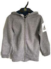 Boys Kids Grey Adidas Full Zip Hooded Sweater/Hoodie With Logo - Age 7-8yrs