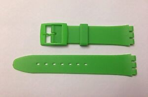 Plastic Resin SWATCH Replacement Watch Strap -17mm - Green Resin