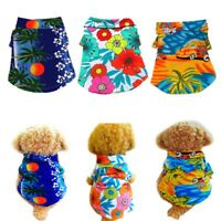 Summer Beach Small Dog Puppy Vest T-Shirt Pet Dog Cat Clothes Apparel Costumes