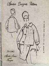 Vintage Monte Sano & Pruzan Spadea Sewing Pattern Suit Jacket Skirt N-1347 FF