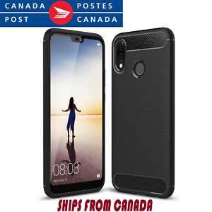 Shockproof Hybrid Carbon Fiber Heavy Duty Case Cover For Huawei P20 pro lite