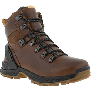 ECCO Womens Exohike Water Repellent Yak Leather Outdoor Walking Boots - Brown