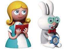 Alessi Hand Decorated Alice and The White Rabbit Figurines in PorcelainMulti-Col