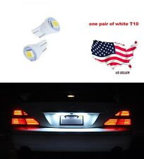 192 194 W5W 168 Xenon Brand New 2 Pcs White T10 1-SMD Wedge 5050 LED Light Bulbs