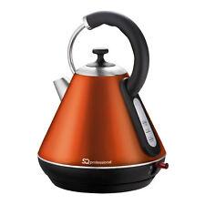 SQ sans fil professionnel Bouilloire Café chaud thé 1.8 L 2200 W Ambre Orange