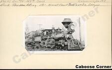 Corvallis & Eastern Railroad #7 4-4-0 B&W Photo (2498)