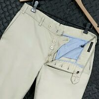 ⭐ Mens Bamford & Sons England cotton twill chino trousers Italy size 32R W32 L31