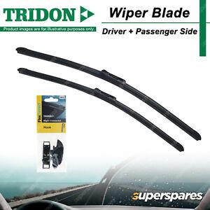 Tridon Wiper Blade & Connector Set for Toyota Hilux KUN16 GGN25 Kluger MCU28