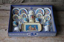 1982 Vintage E.T. Extra Terrestrial Toy Play Tea Dishes Party Set Chilton Globe