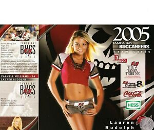 "2005 TAMPA BAY BUCCANEERS CHEERLEADERS ""Lauren"" PHOTO CARD, Team Issued, MiNT!"