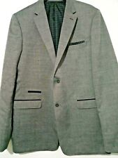 "New Mens Williams and Brown grey suit jacket size 46"" long rrp £175 ref j72"