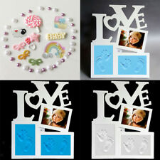 Baby Photo Frame Clay Hand & Footprint Keepsake Table Decoration