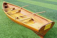 Boston Whitehall Rowboat 17' Cedar Wood Strip Built Pulling Boat Tender New