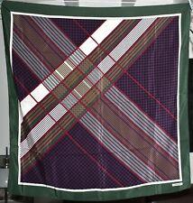 Foulard carré en crêpe de soie LANCEL 83 cm x 83 cm proche du neuf