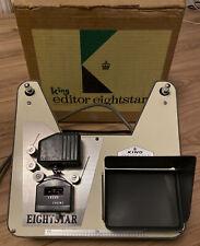 Vintage King Eightstar Standard 8mm Cine Film Movie Editor Viewer WORKING Boxed