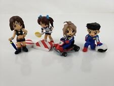 AH! (OH) MY GODDNESS Rare Mini Figures Race Car Set - PVC - 4 Characters & more