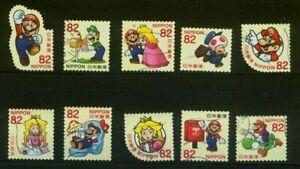˳˳ ҉ ˳˳G166 Japan Greeting Super Mario 2017 ¥82 used complete set used