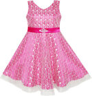 Flower Girls Dress Lace Sparkling Diamond Wedding Pageant Size 7-14 Formal Party