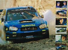 2004 Subaru IMPREZA WRX STi Spiral Bound Brochure / Catalog with Color Chart