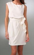 Theory Brienna Silk Cream Belted Dress Size 6
