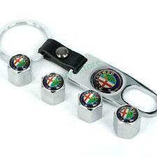 1Set For Alfa Romeo Car Wheel Tire Valve Stems Caps Covers Keychain Styling Logo