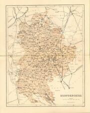 original 1868 colour map of bedfordshire